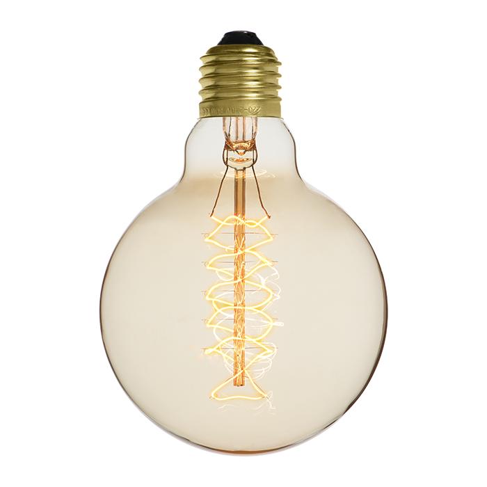Ampoule déco vintage Atlanta 95mm, 60W, E27