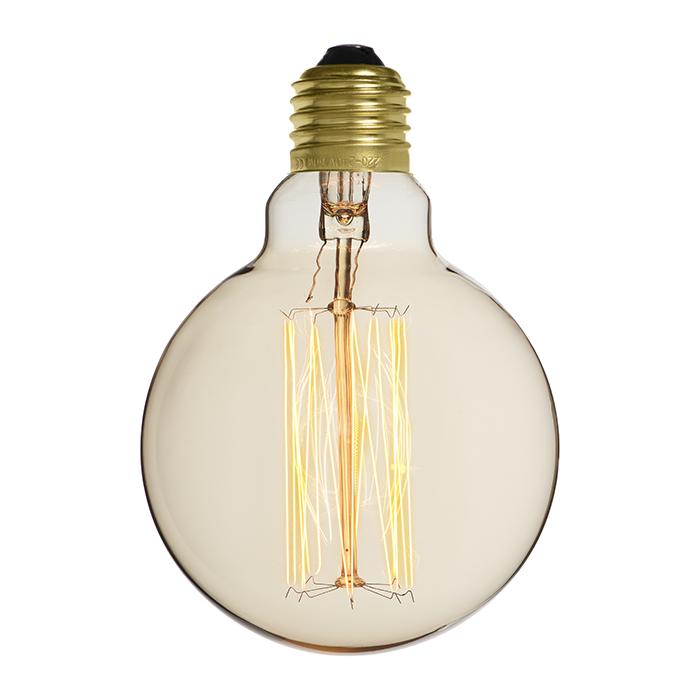 Ampoule déco vintage Portland 95mm, 60W, E27