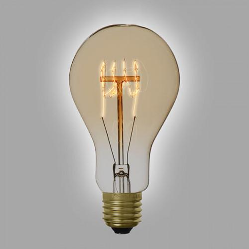 Ampoule déco vintage Orlando 60mm, 60W, E27