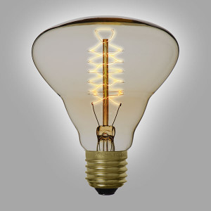 Ampoule déco vintage Houston 95mm, 60W, E27