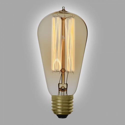 Ampoule déco vintage Cleveland 58mm, 60W, E27