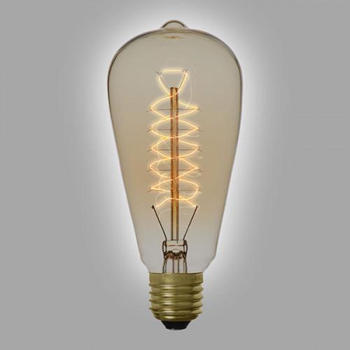 Ampoule déco vintage Jackson 58mm, 60W, E27